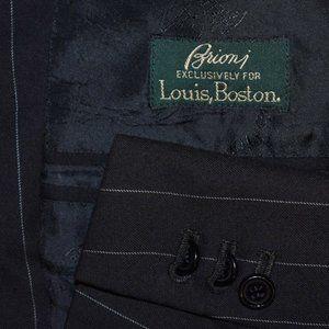 42R Brioni Black Pinstripe Surgeon *Custom blazer